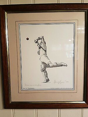 Darren Gough Ball of Confusion cricket print by David Byrne. limited edition.
