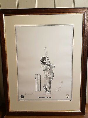 limited edition Desmond Haynes cricket print Opening Up by David Byrne