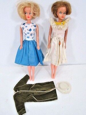 Vintage Lot Of American Character Tressy Dolls With Green Coat 1960's Toys
