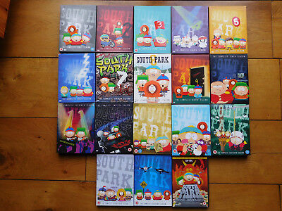 South Park Dvd Collection,  Seasons 1 2 3 4 5 6 7 8 9 10 11 12 13 15 16 17 18