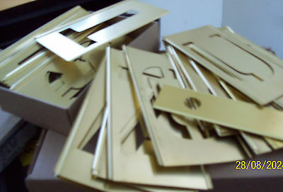 "STENCIL SET 4"" LETTER / NUMBERS  45 PIECE BRASS w/ INTERLOCK  - COMPLETE  NIB"