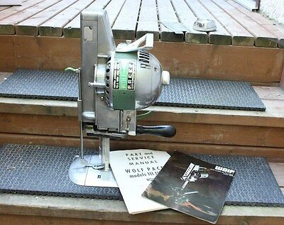 Industrial Wolf Pacer Blade Straight Knife Fabric Cutter Cutting Machine Used