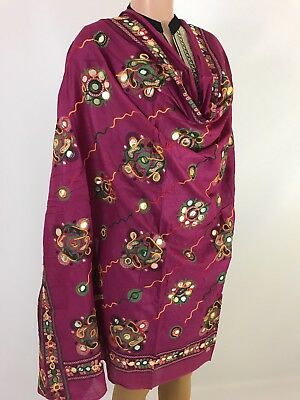 Cute Handwork  indian Dupatta Scarf High Quality 100% Cotton Match Any Dress