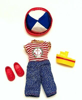 Kelly Tommy Doll Clothes Sailor Nautical Outfit Hat Shoes Red White Blue