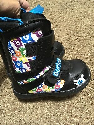 Burton Toddler Small Child Snowboard Boots Size 12c 12 -