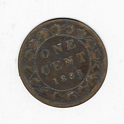 1888 Canadian Large Penny One Cent (Nice)