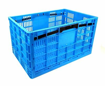 Garen Folding Collapsible Heavy Duty Industrial Strength Crate  17.5 Gal / 66 L