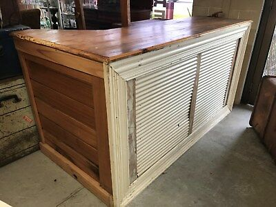 Vintage Shop Counter or Bar for Man Cave