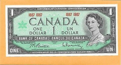 1967 Canadian 1 Dollar Bill Very Nice (Unc)