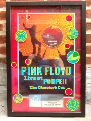 PINK FLOYD LiVe aT PoMPeii DVD PLaTiNuM 100K SaLeS AwARD PLaQue RIAA HoLoGRaM