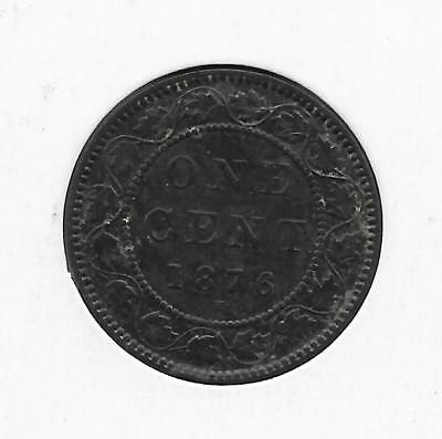 1876H Canadian Large Penny One Cent (Nice)