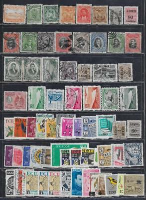 67 Ecuador Stamps from Quality Old Album