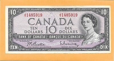 1954 Canadian 10 Dollar Bill J/v1485919 (Circulated)