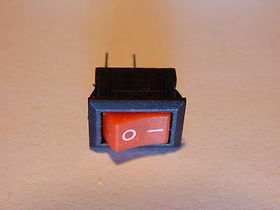 (12)  KCD11 MINI ROCKER SWITCH ~ ON/OFF ~ SPST ~ 10mm X 15mm ~ 6A/125V, 3A/250V
