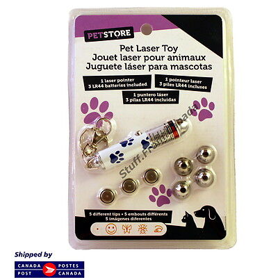 Cat Laser Toy, 5 Different Tips (Also Works For Dogs & Pets)
