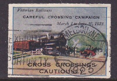 Cinderella 1923  Victorian Railway  Careful Crossing Campaign