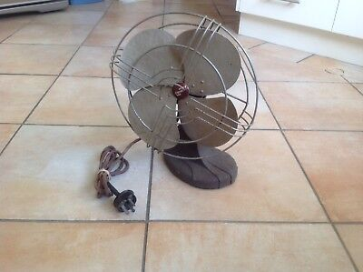 ANTIQUE RETRO ESKIMO BRAND TABLE FAN (can post)