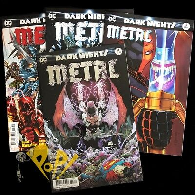 DC Dark Nights METAL #3 FOIL Kubert LEE Romita Jr VARIANT SET DC Comics NM 1st!