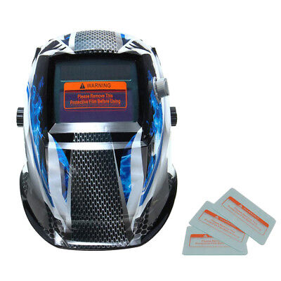 Welding Helmet Automatic Welding Mask MIG TIG ARC Mask w/ Lens - Ghost Fire