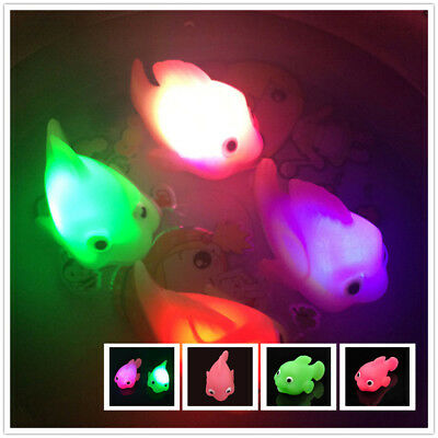 Kids Toys Water Induction Waterproof In Tub Bath Time Bathroom LED Light Fish