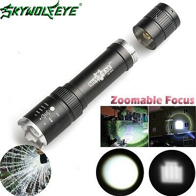 20000LM XML T6 LED 18650 Torch Flashlight Tactical Focus Zoomable Hunting Lamp