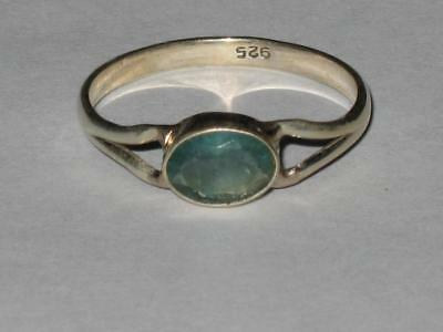 Flourite Ring 925 10 Witch Estate ABSORB NEGATIVITY BRINGS WEALTH DECISION AID