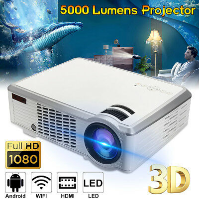 5500 Lumens 1080P HD 3D LED Projector Home Theater Cinema Multimedia HDMI USB AV