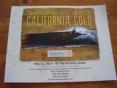 2013  California  Gold  Surfboard   Auction  Booklet.........