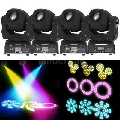 4Pcs 100W LED 8 Gobos DMX512 Moving Head Stage Effect Light RGBW 9/11Channel B1N