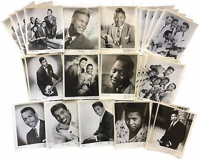 Set of 24 Blues R&B Soul Promo Prints Bobby Blue Bland Ben E. King Junior Parker
