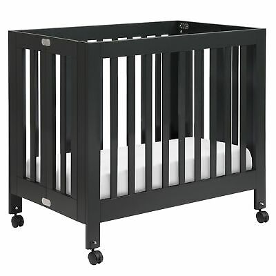 Origami Mini Crib, Black - M6698B