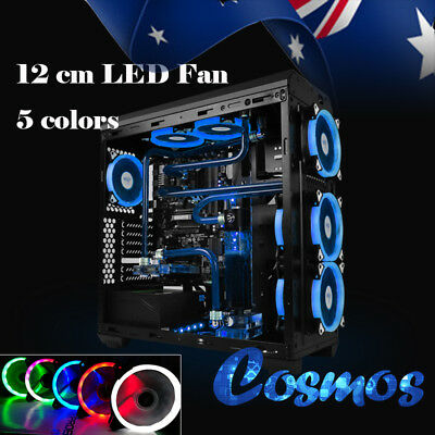 120mm 12V LED Computer Case Fans Silent DIY PC Water Cooling Easy Installed