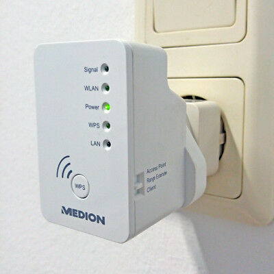 Medion MD87119 WLAN Verstärker Repeater + Access-Point Wireless Router + Client