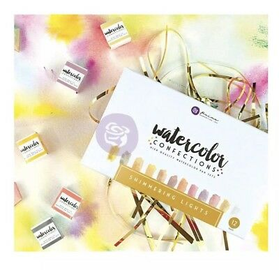 Prima Watercolour Confections Shimmering Lights  Watercolor Paint Artist Mixed