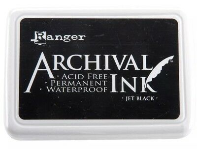 Archival Black Ink Permanent Waterproof Ink Pad