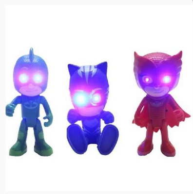 New PJ Masks Gekko Catboy Owlette Light and Sound Action Figures Kids Toys 6inch