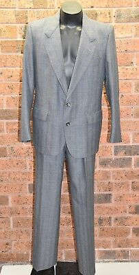 YVES SAINT LAURENT Vintage 90s Grey Wool Suit - Jacket 42R/Pants 37R - EUC