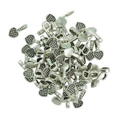 100pcs Glue on Bail for Earring Bails Pendants Charms Connector Jewelry