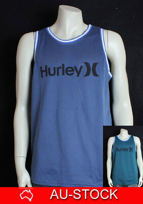 NEW Hurley Mens Dri-Fit Sport Running Mesh Singlet Top TANK - Made with NIKE