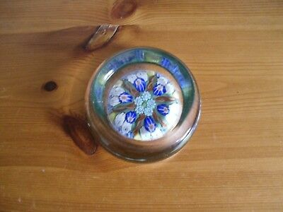 vitage vasart glass paperweight