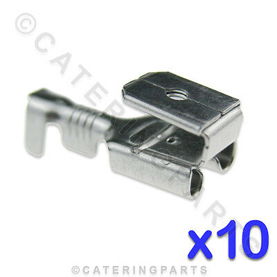 10 x HEAT RESISTANT HIGH TEMPERATURE DOUBLE 6.3mm WIRE CRIMP SPADE CONNECTORS