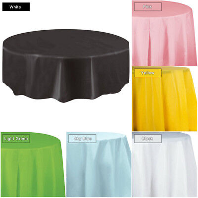 84 inch Round Tablecloth Tablecover Table Cover Cloth Wedding Event Party Decor