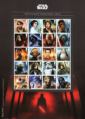 2017 STAR WARS ULTIMATE COLLECTORS SHEET Mint Stamps
