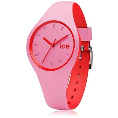 3335383 Ice Watch Duo Pink Red Orologio Da Polso, Quadrante Analogico Da Donna,