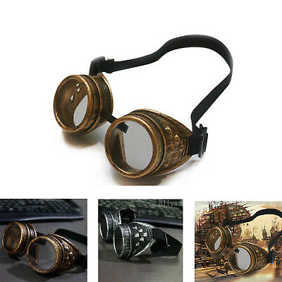 Retro Steam Punk Cyber Goggles Steampunk Glasses Vintage Welding Gothic
