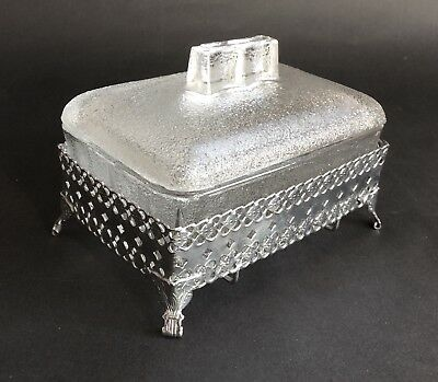 Charming Vintage Stylish Butter Dish, Removable Glass Inner