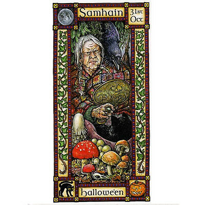 SAMHAIN FESTIVAL GREETING CARD 31st Oct Halloween PAGAN CELTIC HEDINGHAM FAIR