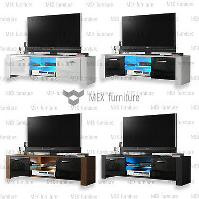 Modern TV Unit  Cabinet, Sideboard TV Stand -High Gloss Doors  FREE LED