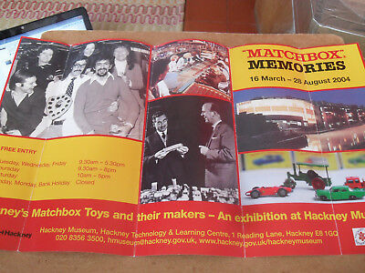 Scarce Matchbox Memories Poster 2004 Uk Edition Near Excellent Condition