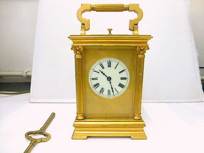 1900 Hi-Quality Neoclassical Gilded Ornate French 8-Day Repeater Carriage Clock